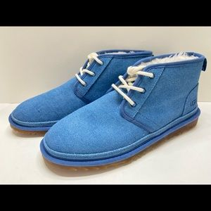 NEW Ugg Men's Chukka Lace Up Winter Boots Blue